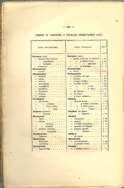ARBRES FRUITIERS, ARBRES D'ORNEMENT, ARBUSTES ET ROSIERS by (Trade Catalogue - Seed & Nursery) (Durand)