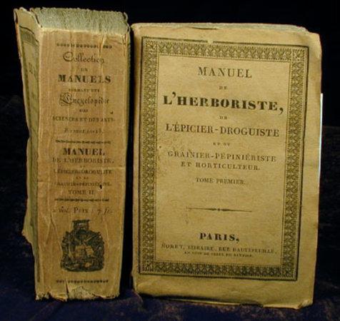 MANUEL DE L'HERBORISTE, by JULIA DE FONTENELLE, (Jean Sebastien Eugène) and Henri TOLLARD.