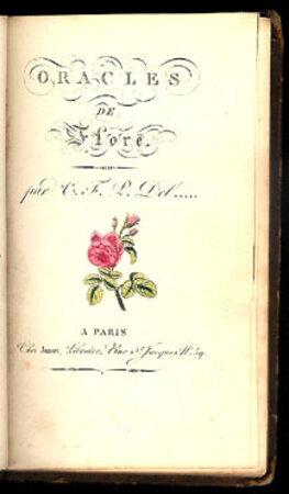 ORACLES DE FLORE. by (Language of Flowers) DELANGLARD, Charles-François Paul.
