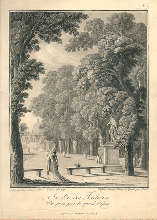 VUES DES TUILERIES (cover title). by (Tuileries) TROLL (Johann Heinrich).