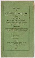 HISTOIRE ET CULTURE DES LYS. by THIERY, M.