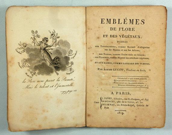 EMBLEMES DE FLORE ET DES VÉGÉTAUX, by (Language of Flowers) LUCOT, Alexis.