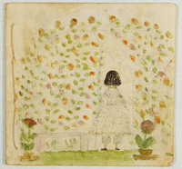 UNTITLED ILLUSTRATED MANUSCRIPT BOOKLET OF GARDEN SCENES. by (PARSONS, Florence I.)