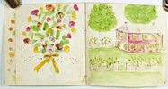Another image of UNTITLED ILLUSTRATED MANUSCRIPT BOOKLET OF GARDEN SCENES. by (PARSONS, Florence I.)
