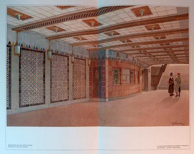 DIE ARCHITECTURE DER HOCH-UND UNTERGRUNDBAHN IN BERLIN by (Subways, Berlin) WITTIG, Paul.
