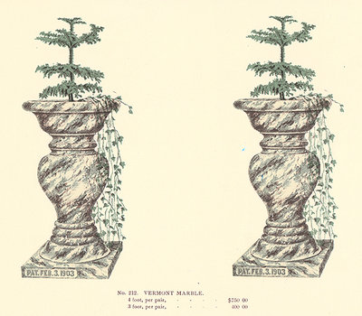 CATALOGUE OF PATENT TERRA COTTA ENAMELED VASES. by (Garden Ornament) (D. MORIARTY, manufacturer).