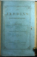 LES JARDINS DANS LA RÉGION DE L'ORANGER. by (Botanical Gardens - Mediterrean) MARCHAIS, A.