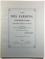 L'ART DES JARDINS, by  CHOULOT, (Paul de Lavenne), Comte de.
