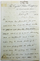 LETTER FROM PAXTON TO JOHN BOWRING REGARDING SUCCESSFUL OF IMPORT OF THE RICE PAPER PLANT FROM CHINA TO CHATSWORTH. by  (PAXTON, Joseph)