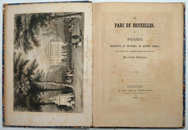 LE PARC DE BRUXELLES. by (Parks - Brussels) Schoonen, Louis.