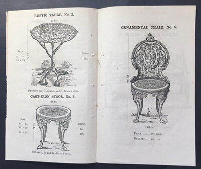 CATALOGUE OF CAST-IRON GARDEN VASES, by (JONES J.)