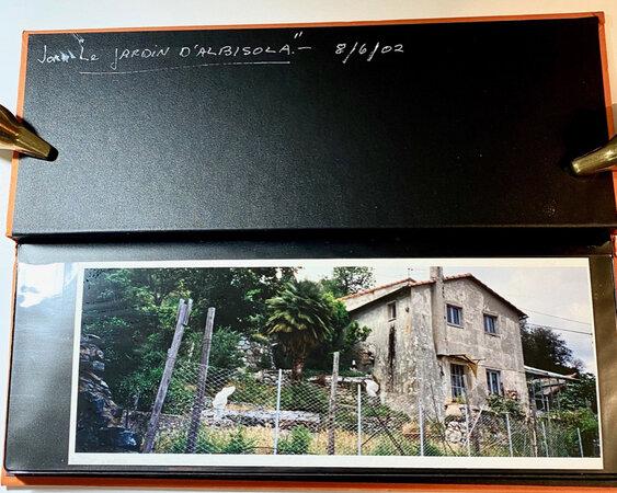 """""""Jorn""""/ """"Le jardin D'Albisola"""" (penned title). Amateur Photo Album. by (PELLON, Gina),"""